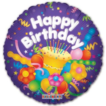 Birthday Cake Balloons - 18 Inch, 5 Pack