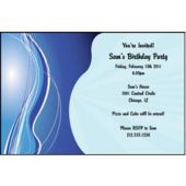 Design In Blue Personalized Invitations
