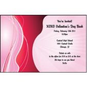 Design In Pink & Red Personalized Invitations