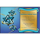 Mitzvah Stars Personalized Invitations