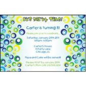 Funky Circles Personalized Invitations