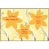 Orange Flowers Personalized Invitations