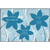 Blue Flowers Personalized Invitations