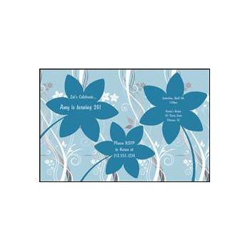 Flowers-black blue