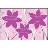 Pink Flowers Personalized Invitations