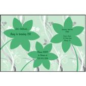 Green Flowers Personalized Invitations