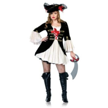 Captain Swashbuckler Plus Adult Costume
