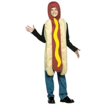 Hot Dog Teen Costume