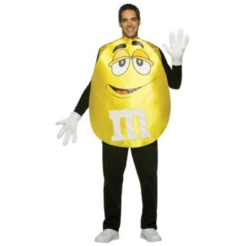 M&Ms Yellow Poncho Adult Costume