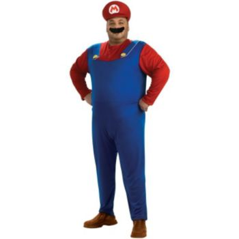 Super Mario Bros. - Mario Plus Adult Costume