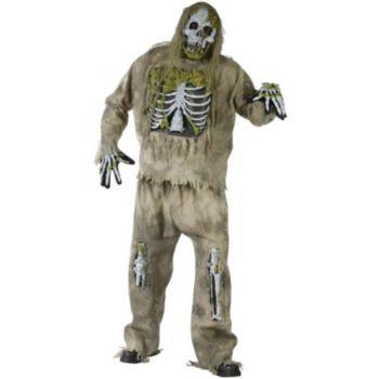 Skeleton Zombie Adult Plus Costume