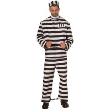 Convict Costume X-Large  Adult