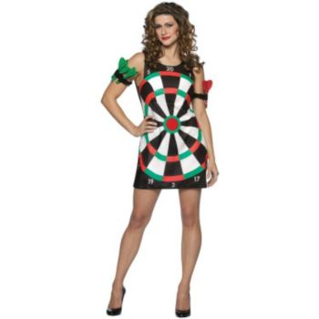 Bullseye! Dartboard Dress Adult Costume