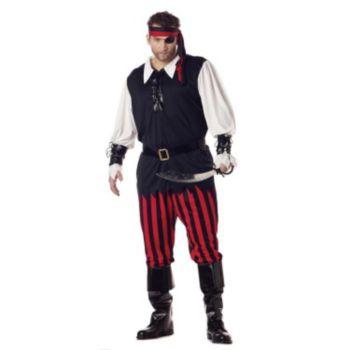 Cutthroat Pirate Plus  Adult Costume