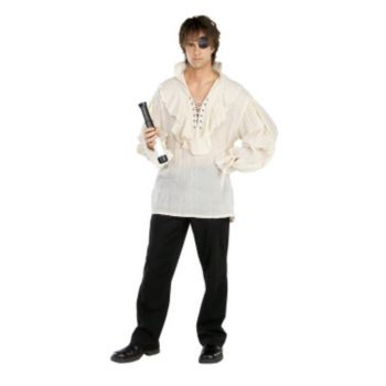 Fancy White Pirate Shirt  Adult