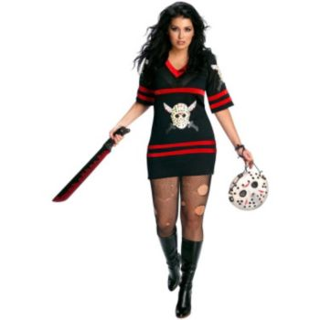 Friday The 13th - Sexy Miss Voorhees Plus Adult Costume