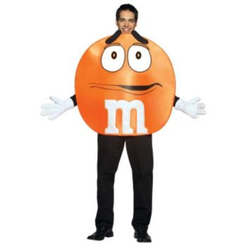 M&Ms Orange Poncho Adult Costume