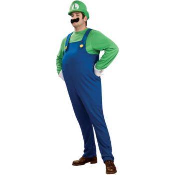 Super Mario Bros. - Deluxe Luigi Plus Adult Costume
