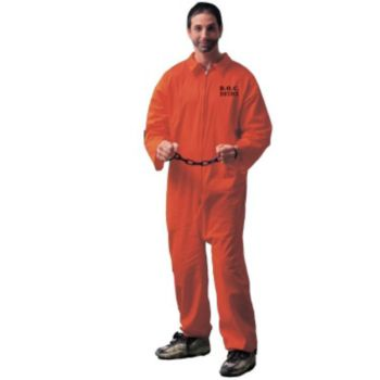 Jumpsuit (Orange) Adult Costume