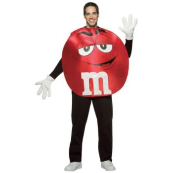 M&Ms Red Poncho Adult Costume