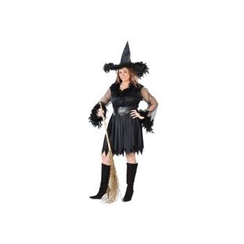 Sexy Feather Witch Plus Adult Costume
