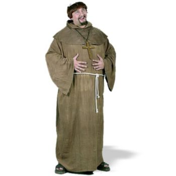 Medieval Monk Plus  Adult Costume
