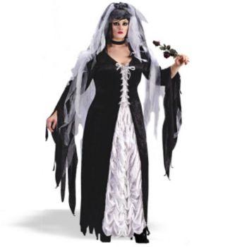 Coffin Bride Plus Adult Costume