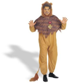 Wizard of Oz - Cowardly Lion Plus Adult Costume