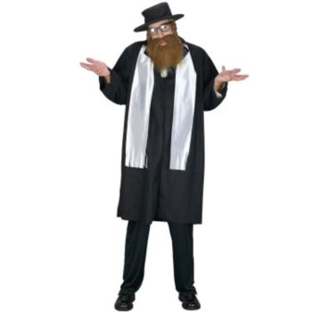 Deluxe Rabbi  Adult Costume