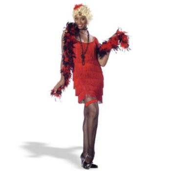 Fashion Flapper (Red) Adult Costume