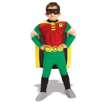 Teen Titans DC Comics Robin Muscle Chest Deluxe ToddlerChild Costume