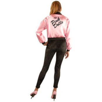 Pink Dolls Satin Jacket Plus Adult Costume