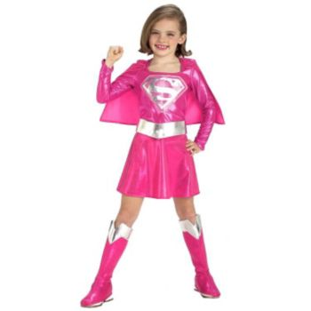 Pink Supergirl ToddlerChild Costume