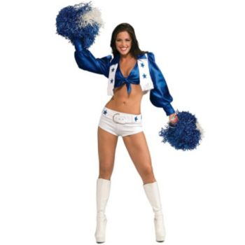 Dallas Cowboys Cheerleaders Deluxe Sexy Dallas Cowboys Cheerleader Adult Costume