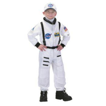 NASA Jr. Astronaut Suit White ToddlerChild Costume