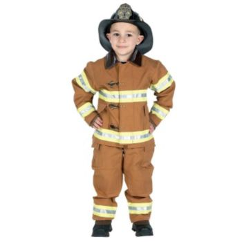 Jr. Fire Fighter Suit Tan Child Costume