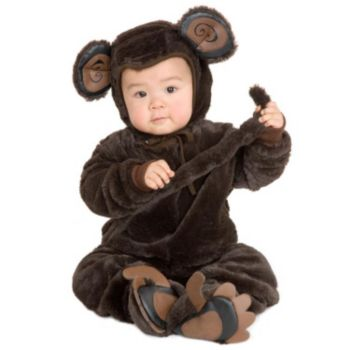 Plush Monkey ToddlerChild Costume