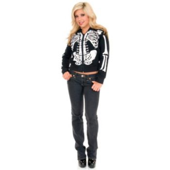 Skeleton Hoodie (Female) Adult Costume
