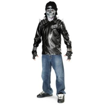 Metal Skull Biker ChildTeen Costume