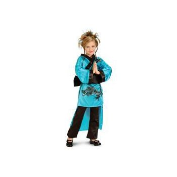Teal Dragon Child Costume