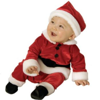 Velvet Santa InfantToddler Costume