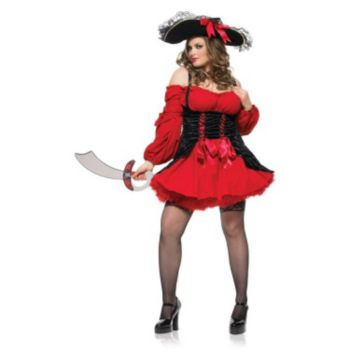 Vixen Pirate Wench Plus Adult Costume