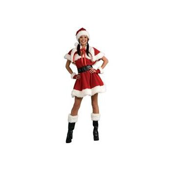 Velvet Miss Santa Adult Costume