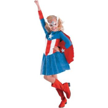 Captain America Girl Classic ToddlerChild Costume