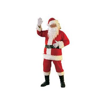 Economy Flannel Santa Suit Adult Costume