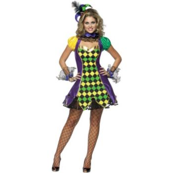 Mardi Gras Jester Woman Adult Costume