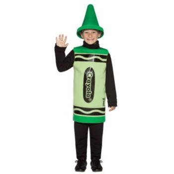 Green Crayola Crayon Child Costume