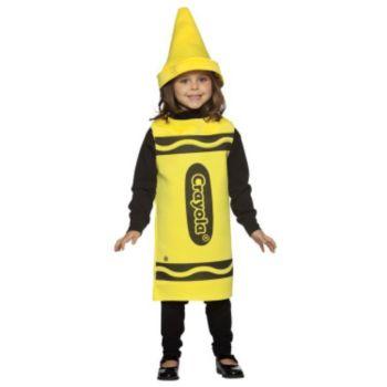 Yellow Crayola Crayon Child Costume