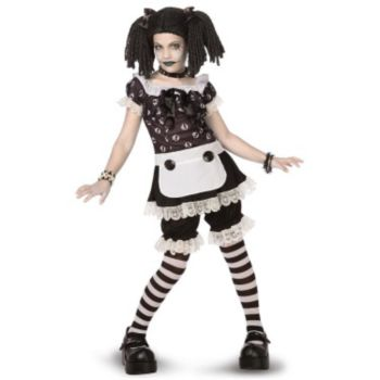 Gothic Rag Doll ChildTween Costume