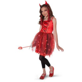 Dazzling Devil Light-Up ChildTween Costume